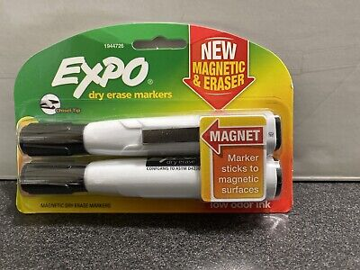 Expo Magnetic Dry Erase Chisel Marker With Eraser 2 Pens
