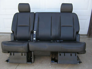 07-13 TAHOE YUKON OR ESCALADE 2ND ROW BLACK BENCH SEAT