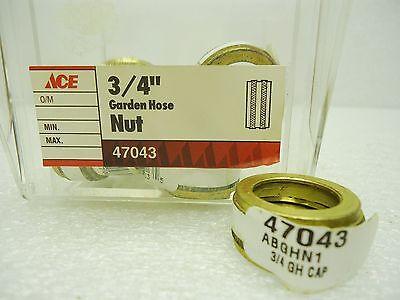 """ACE 47043 Brass 3/4"""" Garden Hose Nut Lot of 9  pcs"""
