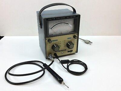 Leader Electronic Multimeter Lem-75a 100117220240 Vac Made In Japan