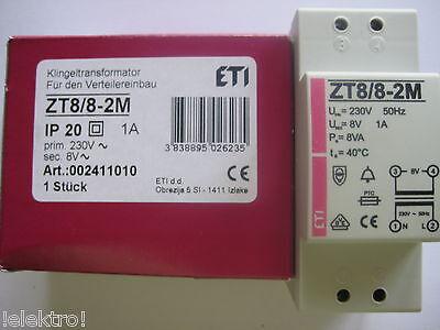 Klingeltrafo Klingeltransformator Einbau 8V 1A