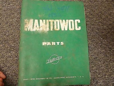 Manitowoc Engineering Model 3900 Crawler Crane Parts Catalog Manual List Book