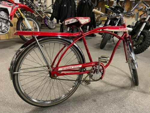 Vtg 1960s Roadmaster Bicycle Cruiser Balloon tires Skyrider Deluxe Unretored Nic (Used - 499.95 USD)