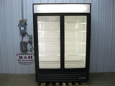 True Gdm-49f Glass Two 2 Door Merchandiser Reach In Freezer