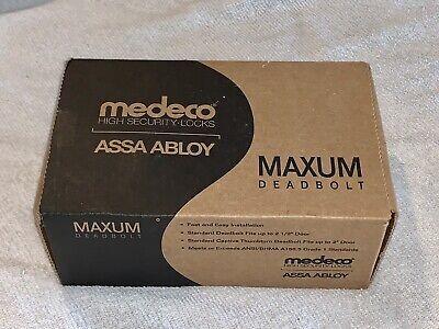 Medeco High Security Locks Assa Abloy Maxum Deadbolt Bright Chrome New In Box