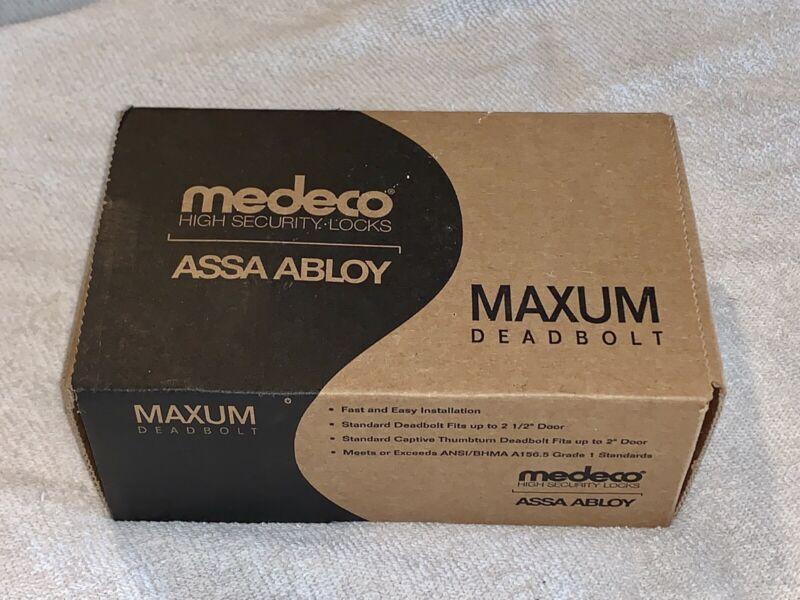 MEDECO HIGH SECURITY LOCKS ASSA ABLOY MAXUM DEADBOLT BRIGHT CHROME *NEW IN BOX*