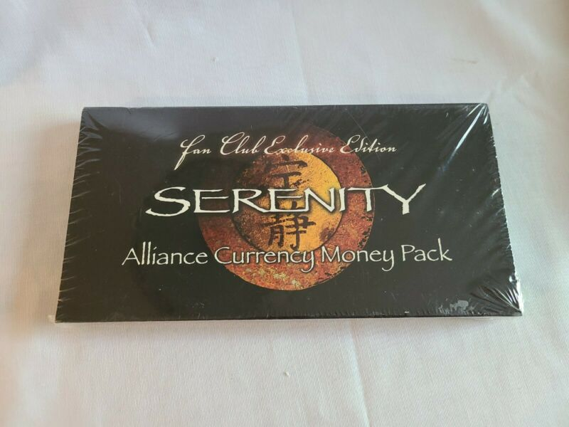 Serenity Alliance Currency Money Pack Fan Club Edition NEW