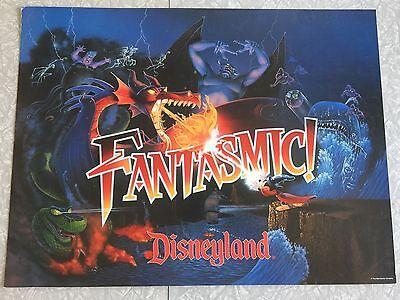 "VERY RARE – 1992 Fantasmic! Disneyland Cardboard Sign 24""x18"""