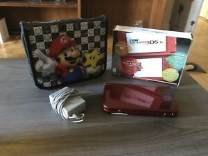 NEW Nintendo 3DS XL + Charger + Carrier + Box