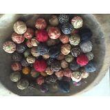 36 Tiny Primitive Rustic Rag Balls Bowl Fillers Farmhouse Look Old Antique