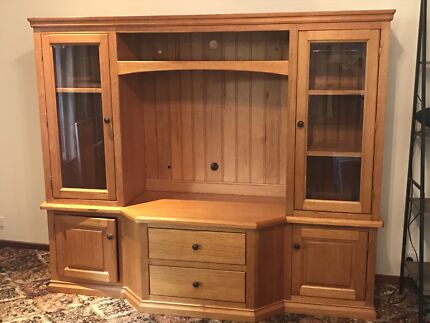 Victorian Ash Wall Unit Excellent Condition | Cabinets | Gumtree ...