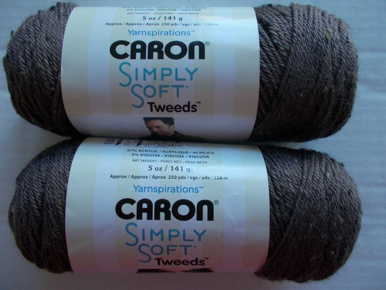Caron Simply Soft Tweeds Yarn-Taupe