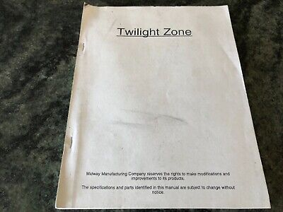 Arcade Game, Midway Pinball, Twilight Zone  Operations Manual
