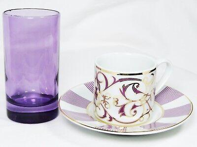 Turkish Anatolian Porcelain Multi Coloured Ottoman Set up Coffee Set + Glasses