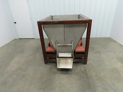 Portable Stainless Steel Gravity Feed Dispenser Hopper Bin 53 X 41