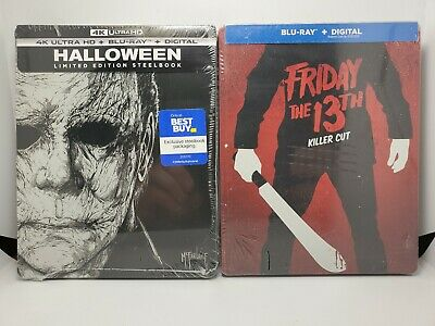 Halloween (2018) 4K+Blu-ray+Digital & Friday the 13th (BR+Digital) 2x STEELBOOKS