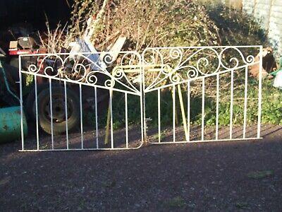 pair of wrought iron garden / drive  gates   1902