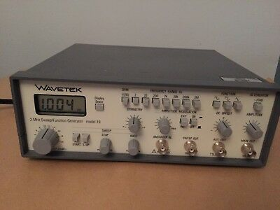 Wavetek 2mhz Sweepfunction Generator Model 19
