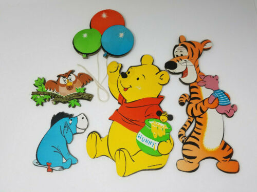 Vintage Winnie the Pooh Disney Wall Hanging Nursery Decor Eeyore Tigger Piglet