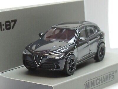 Minichamps Alfa Romeo Stelvio Quadrifoglio, 2018, black met. - 870 120204 -...