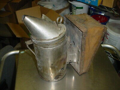 Vintage Bee Hive Smoker Dadant Sons Inc Leather Bellows. Works