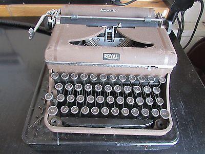 Vintage Royal Companion Typewriter with Case