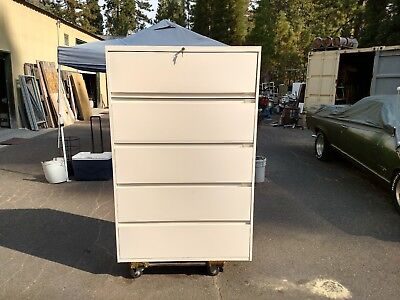 File Cabinet 5 Drawer Lateral Steelcase 42w Lock Keys Wedeliverlocallynorcal