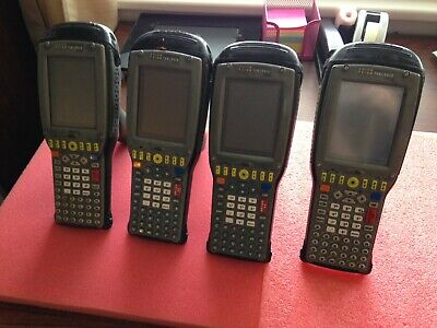 Qty 4 Psion Teklogix 7535-g2 Mobile Computer Barcode Scanner Untested Ma25a