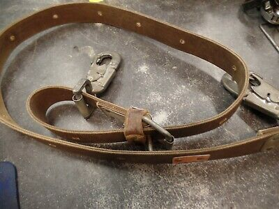 Bashlin Linemans Safety Belt Lanyard Climbing Equipment Gear Pole Strap 52n2l