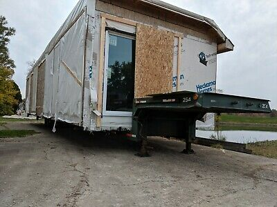 Modular Mobile Home Transport Trailer, Oversize Load, Expandable to 14' wide,