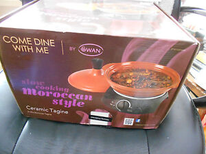 Swan Come Dine With Me Ceramic Tagine Slow Cooker 2 Litre