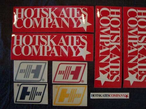 Lot Of 9 Hot Skates Co. Et. Al. Skateboard Stickers & Decals , Orange County Ca