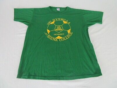 1987 NYSWCA State Soccer Championships at Siena College Shirt Large New York image