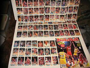 1990 PANINI NBA 180 STICKER FULL SET + ALBUM MICHAEL JORDAN BIRD WAX BOX PACK