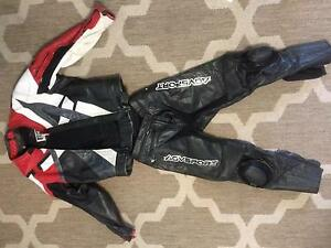 Full leather suit, matching helmet boots gloves Helensvale Gold Coast North Preview