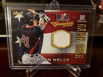 2013 Panini USA Baseball Champions Game Gear Jerseys Carson Kelly #23