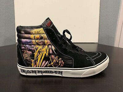 Vans × IRON MAIDEN SK8-Hi KILLERS Rare Skateboarding Heavy Metal , Men's Size 12