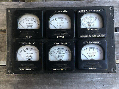 Vintage 6 Triplett Dc Milliamperes Meter Volts Amos Bakelite Panel - Steampunk