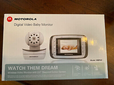 Motorola Digital Video Baby Monitor Model - MBP40 European Plug