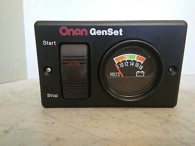 Onan Genset Startstop Switch And Volts Panel 300-495201 319-3082
