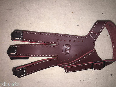 Bear Archery Traditional Glove  by Neet Products Brown Leather Right Hand Large