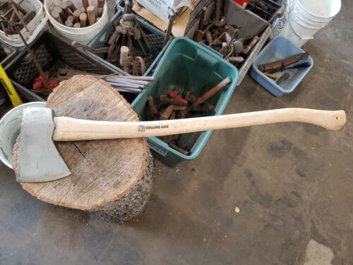 """Vintage Collins Jersey axe 34.5"""" 3.5lb. Great handle"""