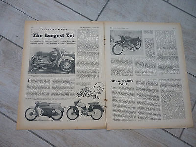 Amsterdam bike show 1959  & 1976 technical & historical articles- now 2 items