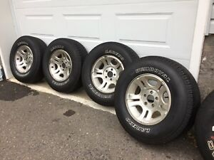 Tires on rims + spare