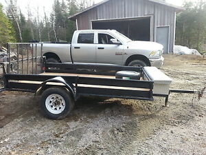 Great 6×10 utility trailer with a ramp.