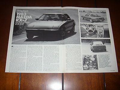 1983 MAZDA RX7 -  Original Vintage Article