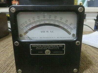Weston Ac Only Volt Meter Model 433