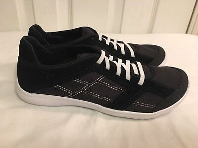 Clarks Ladies Girls ARBOR JADE Black Suede Trainers Shoes Size UK 3 D New Lightw