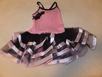 Girls Ballet Pink and black leotard with skirt small size 3-5 for sale  Littleton