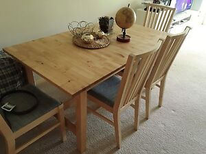 IKEA Extendable table and chairs set Chatswood Willoughby Area Preview
